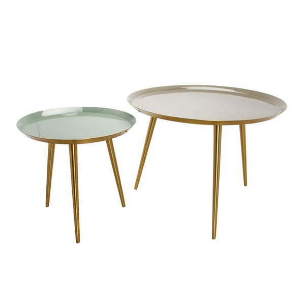 "Coffeetable ""Grey - Verte"" 2er Set"