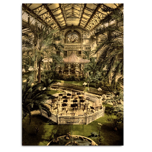 "Poster Print ""PALM CAFE"""