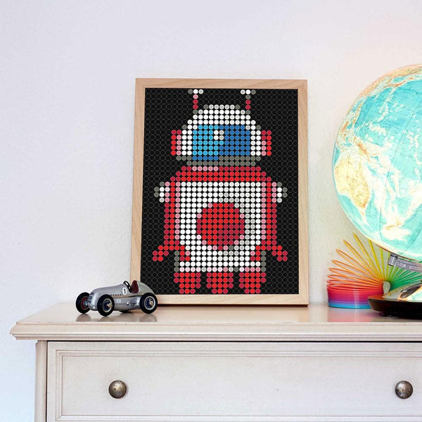 "DIY Klebeposter ""dot on art"" Robot"