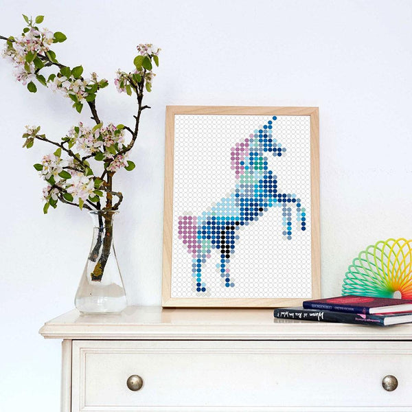 "DIY Klebeposter ""dot on art"" Unicorn"