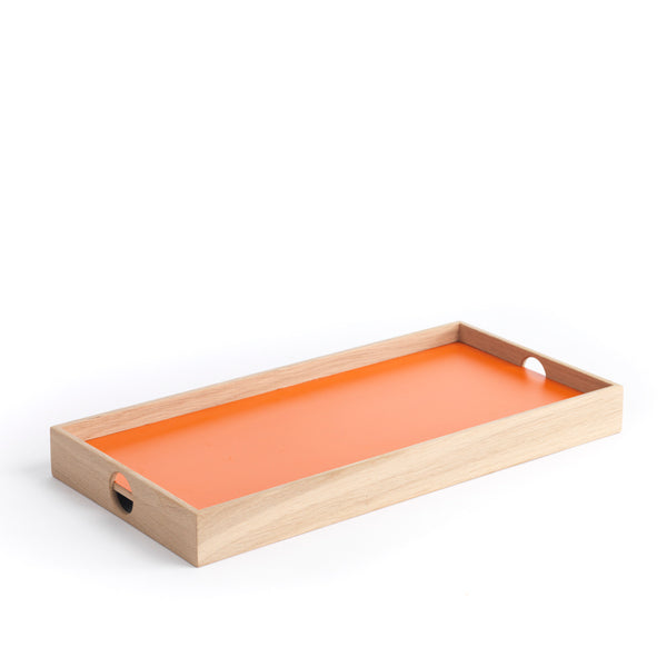 "Tablett ""Flip Tray"" 2-seitig orange/grau"