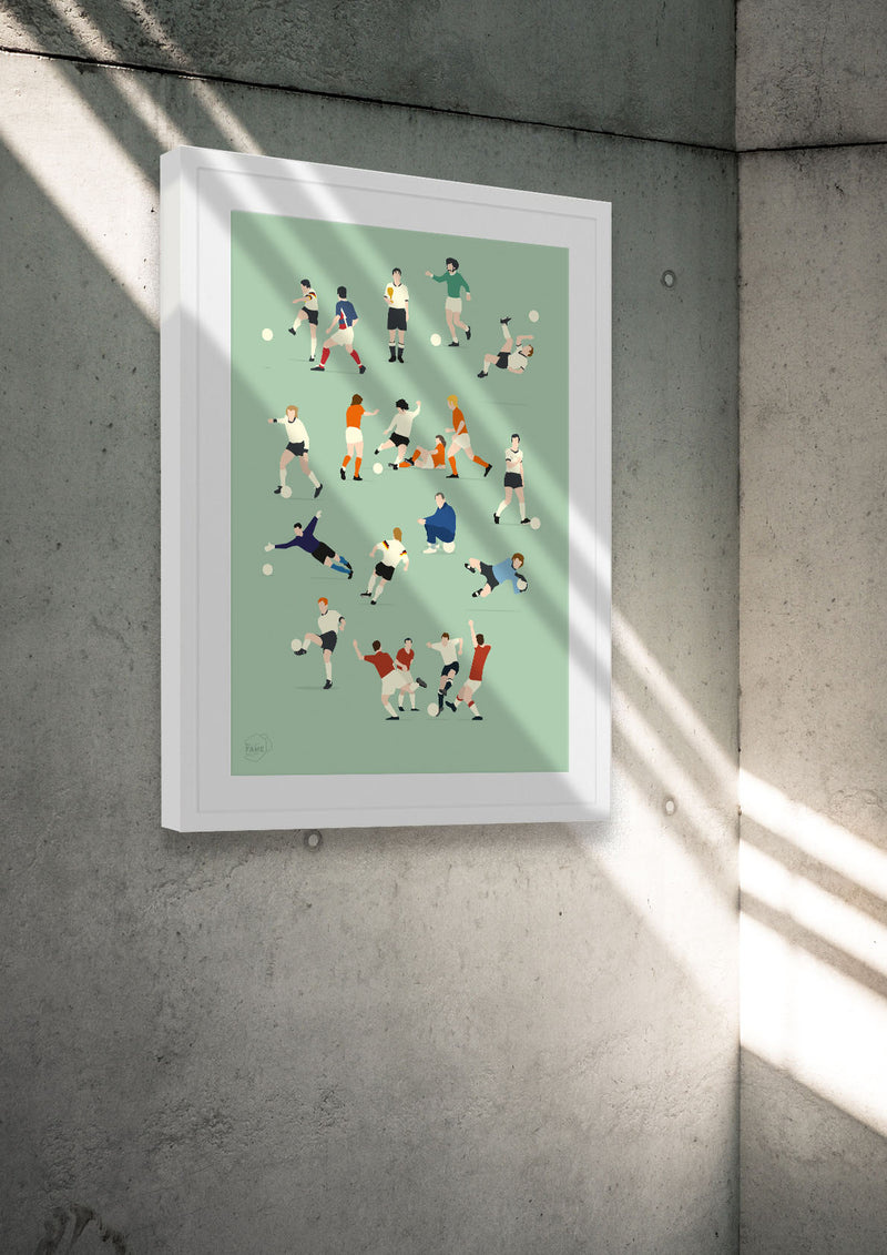 Fußball Poster HALL OF FAME