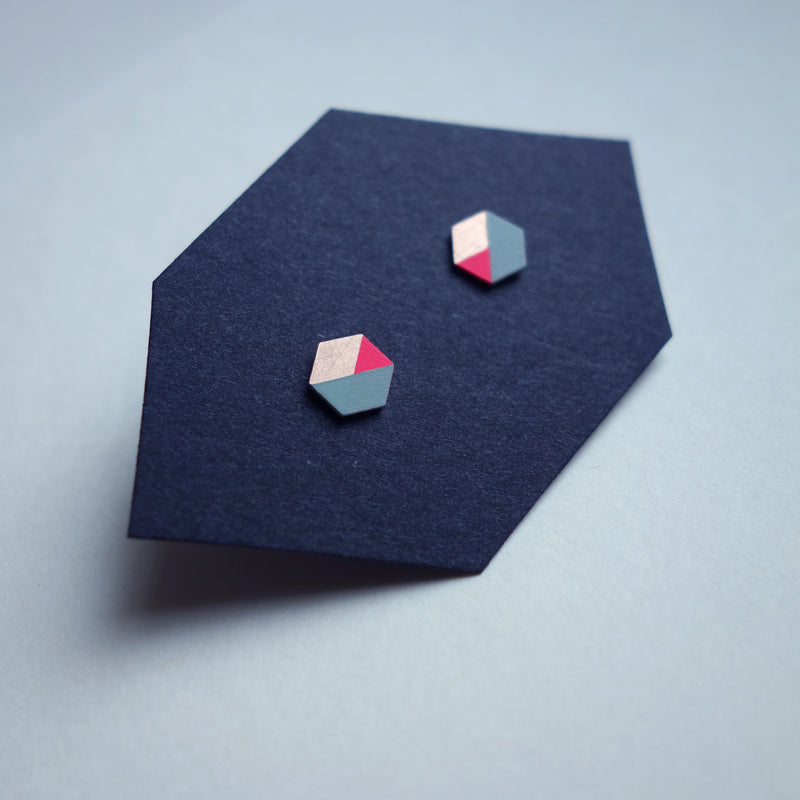 Ohrstecker HEXAGON