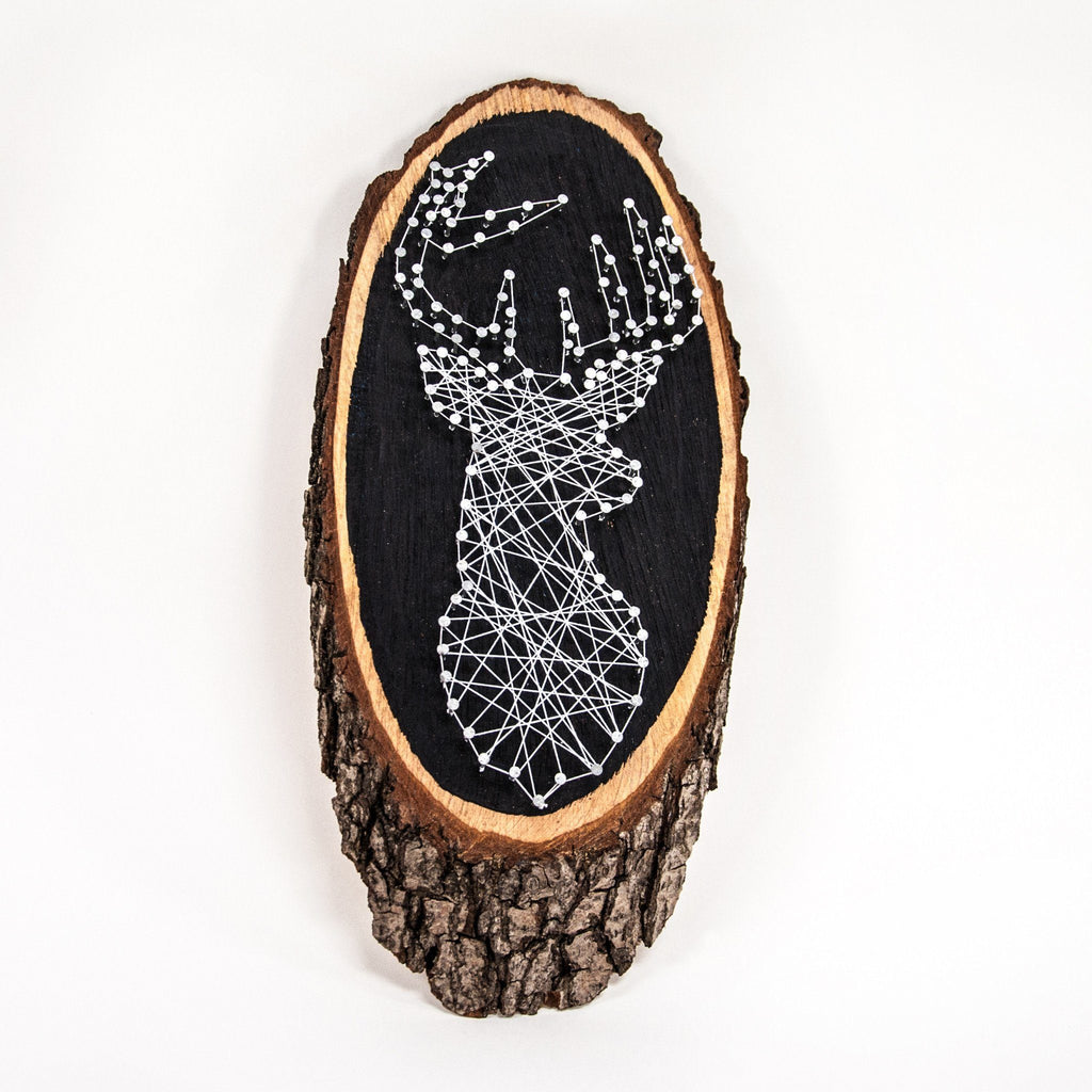 DIY Box  Hirsch in String Art Optik kreatives geschenk