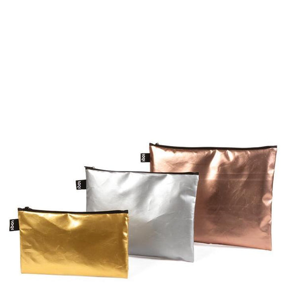 ZIP-Pockets  MATT METALLIC im 3er Pack