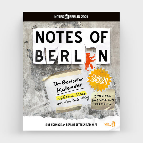Abreißkalender NOTES OF BERLIN 2021