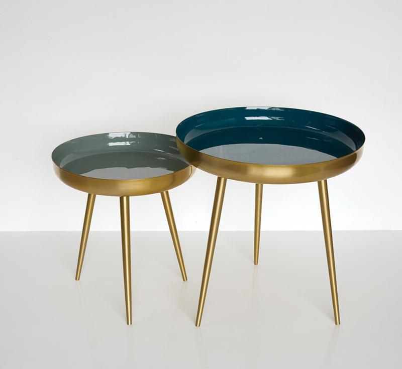 Coffeetable GOLDEN  BLUEISH
