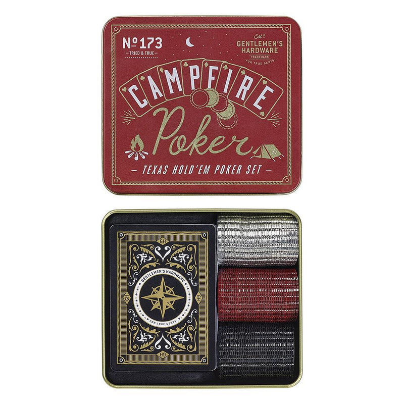 Lagerfeuer Poker-Set CAMPFIRE TEXAS HOLD 'EM POKER SET