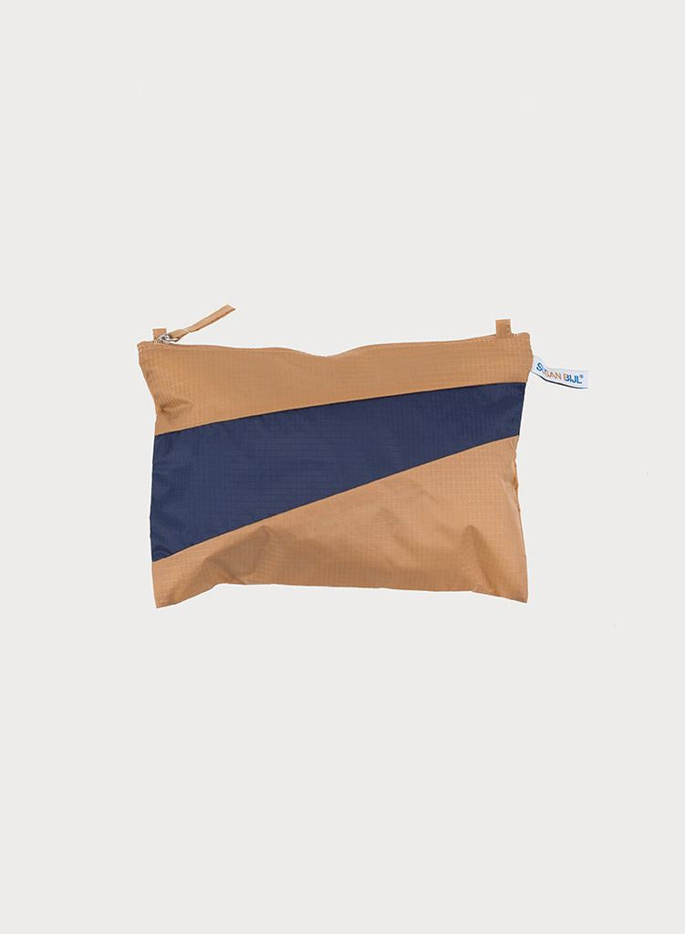 Etui THE NEW POUCH S/M  camel & navy