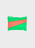Etui THE NEW POUCH S/M  greenscreen & salmon