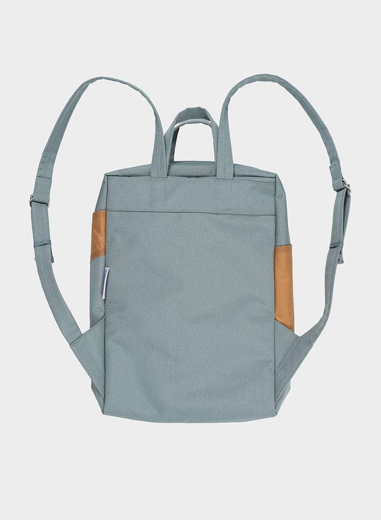 Rucksack THE NEW BACKPACK grey & camel