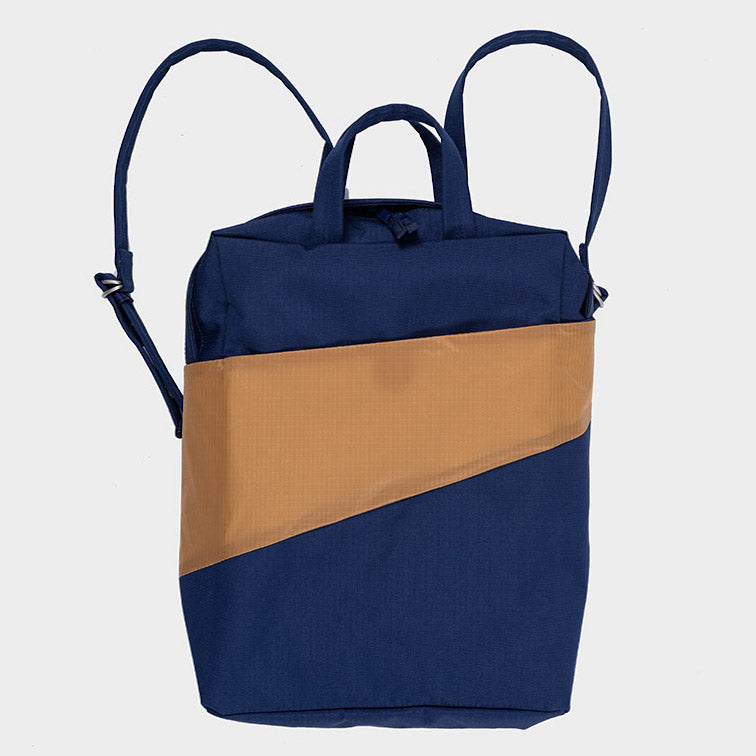 Rucksack THE NEW BACKPACK navy/camel