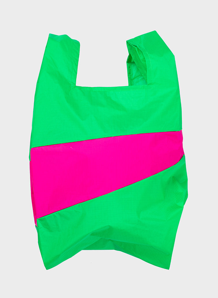 SHOPPINGBAG L greenscreen & pretty pink