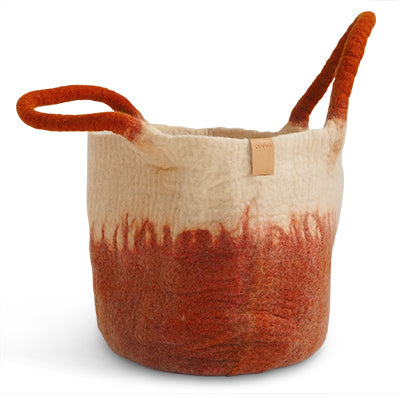 Wollkorb WOOL BASKET rust