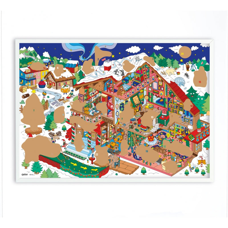 XXL Adventskalender Scratch off Poster