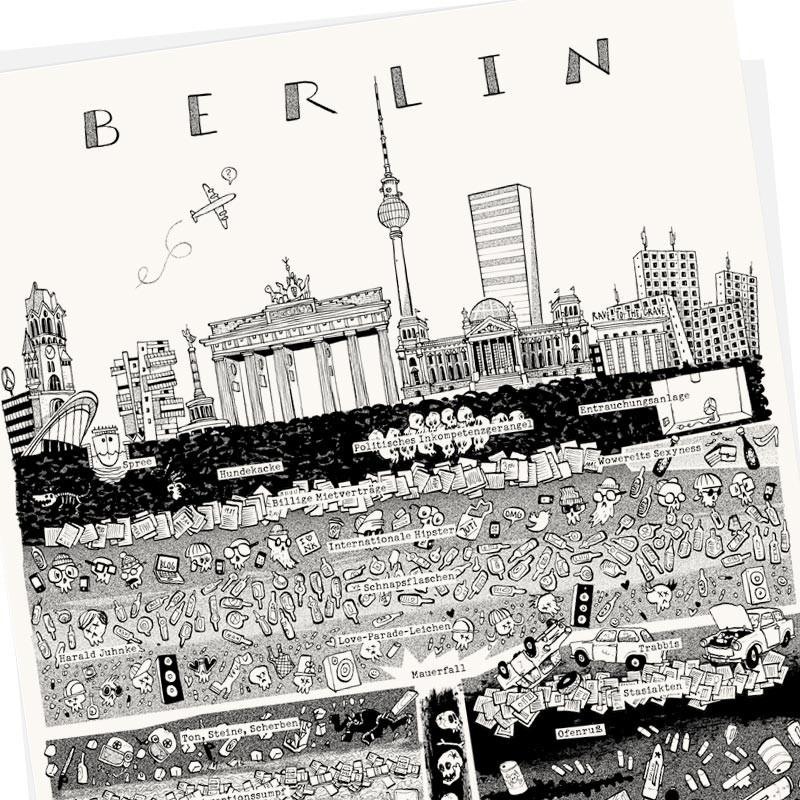 Berlin Plakat Poster Wolfgang Philippi Illustration