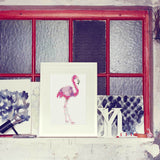 "DIY Klebeposter ""dot on art"" Flamingo"