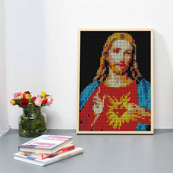 "DIY Klebeposter ""dot on art"" Jesus"