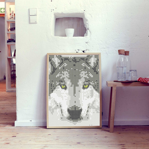 "DIY Klebeposter ""dot on art"" Wolf"