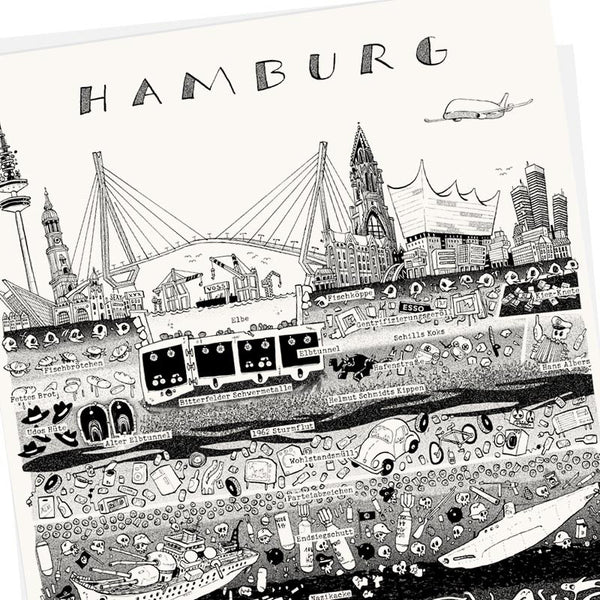 hamburg Plakat Poster Wolfgang Philippi Illustration