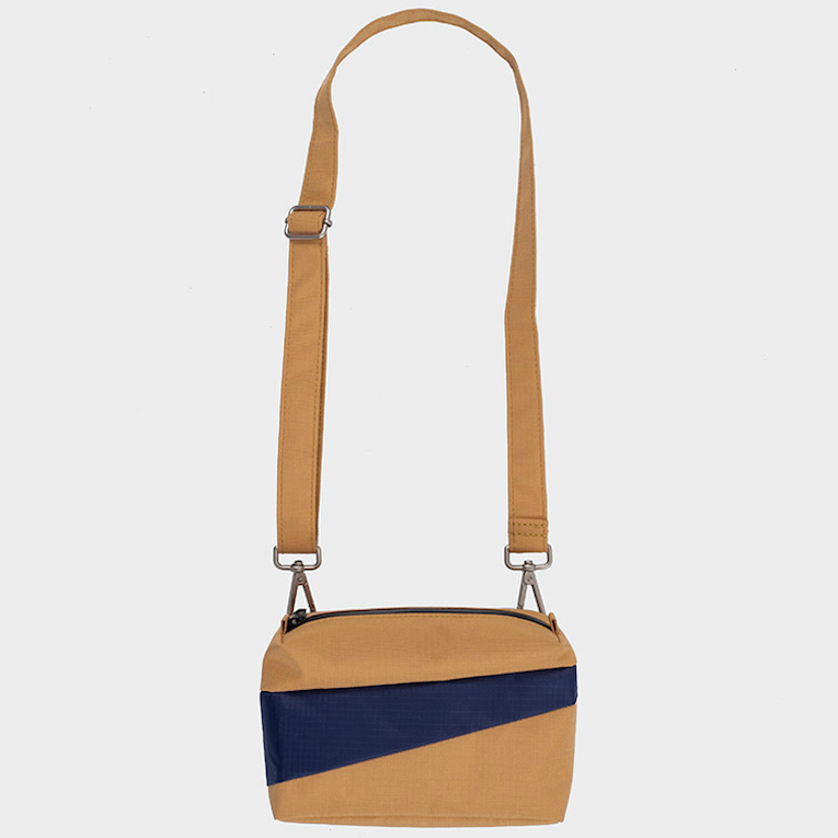 THE NEW BUM BAG S  camel & navy