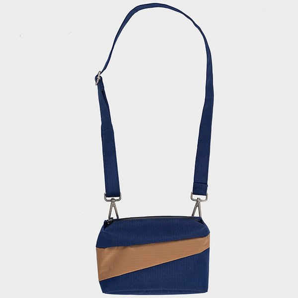 THE NEW BUM BAG S  navy & camel