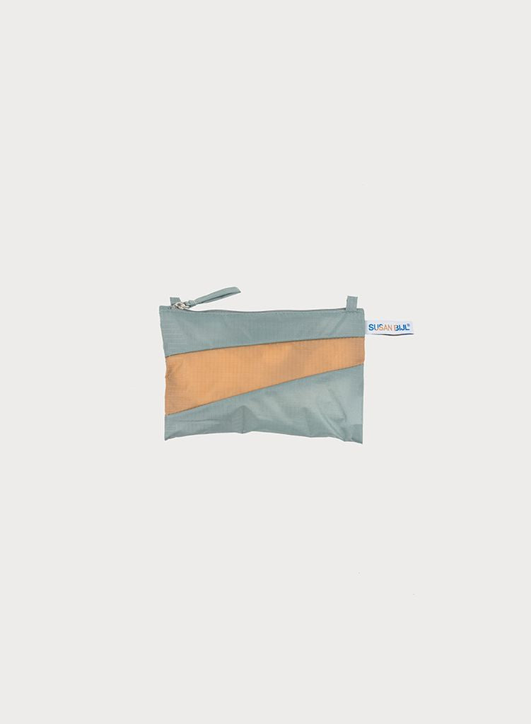 Etui THE NEW POUCH S/M  grey & camel