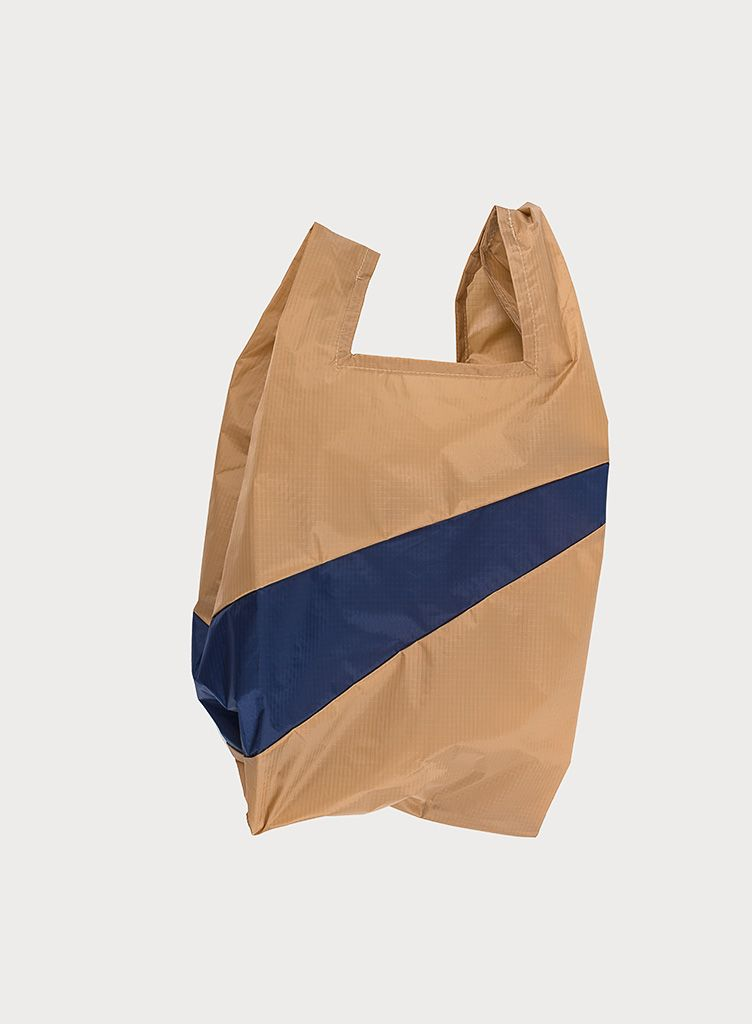 SHOPPINGBAG L camel & navy