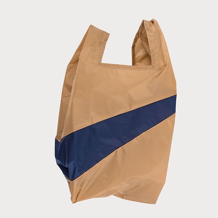 SHOPPINGBAG L camel/navy