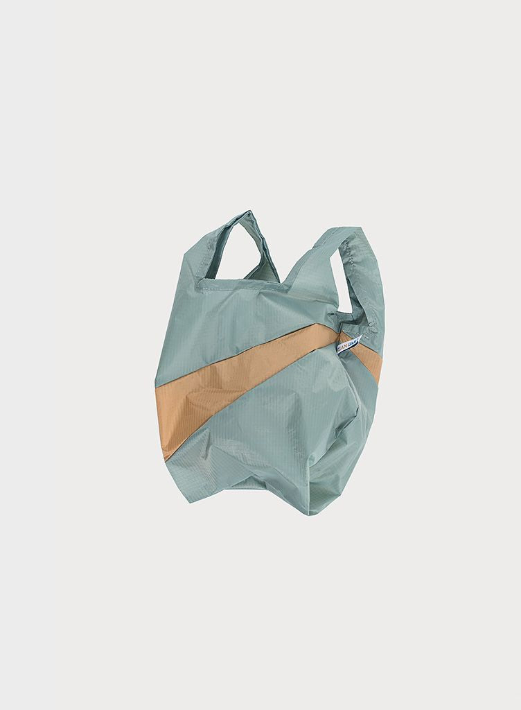 SHOPPINGBAG L grey & camel