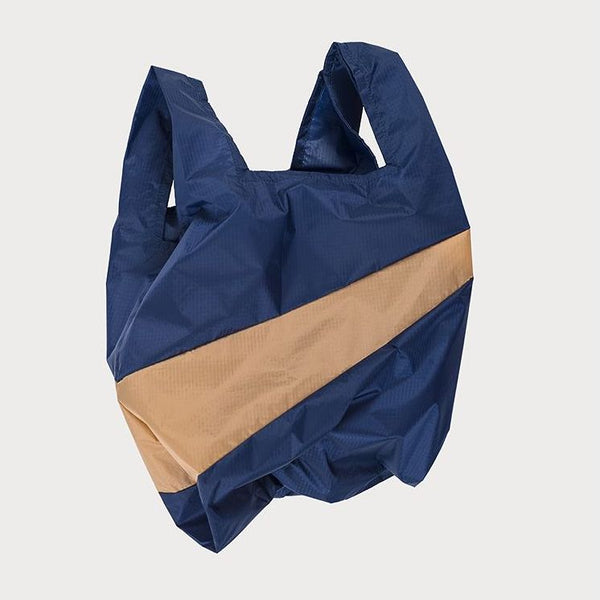 SHOPPINGBAG L navy/camel