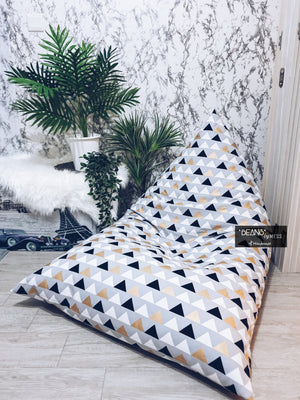 Triangle Series - Standard Fabric Beanbag