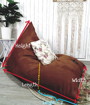Triangle Series - Denim & Minky Fabric Beanbag