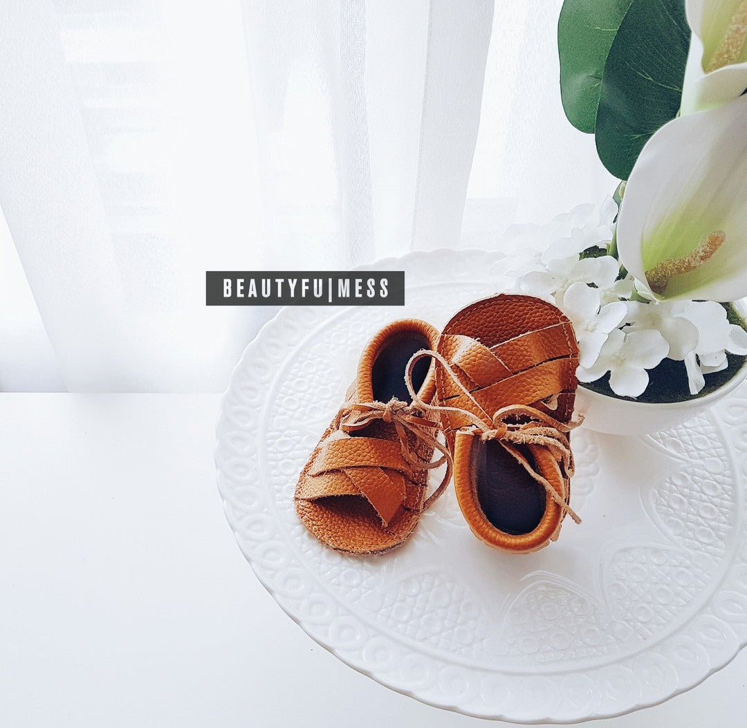Strappy Caramel (Genuine Leather)