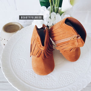 ZIP UP Tassel Boots (2 colours)