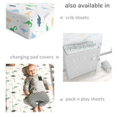 Cotton Jersey Bassinet Fitted Sheets – Dinosaurs