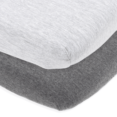 Bassinet Sheets - Heather Grey