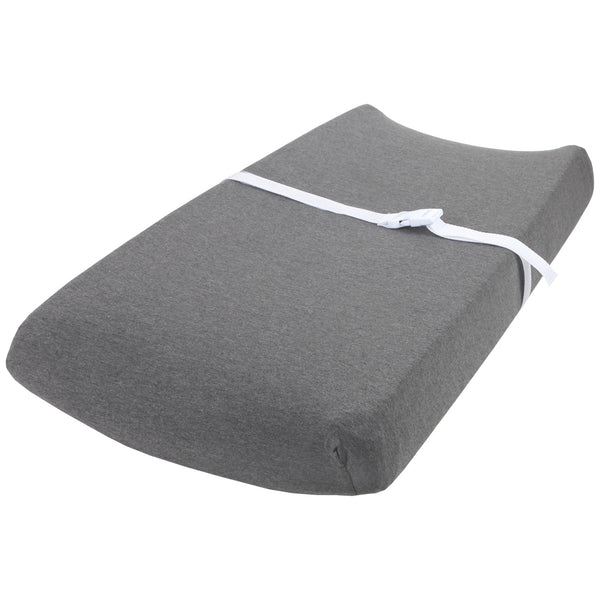 Cotton Changing Pad Covers - Heather Grey