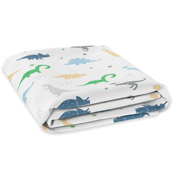 Baby Fitted Crib Mattress Sheets 1 Pack by Cuddly Cubs | Toddler Bed Sheet | Dinosaur Crib Sheets for Boy or Girl | Stretchy Jersey Cotton