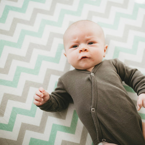 Softest Fitted Crib Sheets Set | 2 Pack Toddler Bed Sheet for Boy or Girl | Stretchy Jersey Cotton Bedding for Standard Mattress | Grey & Teal Chevron, Safari Elephants
