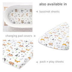 Cotton Jersey Fitted Crib Sheets, – Woodlands