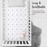 Crib Sheets - Sheep & Stripe in Grey and White