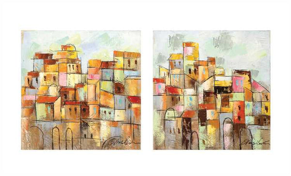 At Close Quarters, Canvas Abstractions, Set of 2