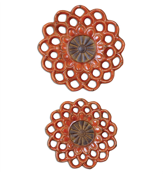 Carilla Wall Medallions, Set of 2