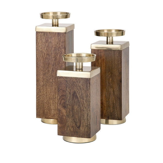 Concepts Eden Wood Candleholders by Connie Wood
