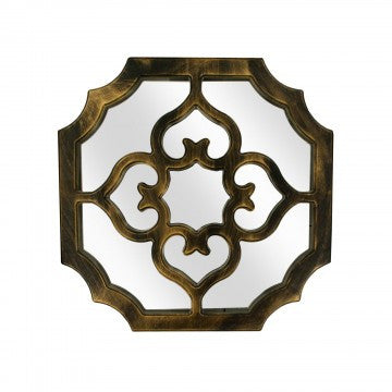 Decorative Bronze Sectioned Mirror