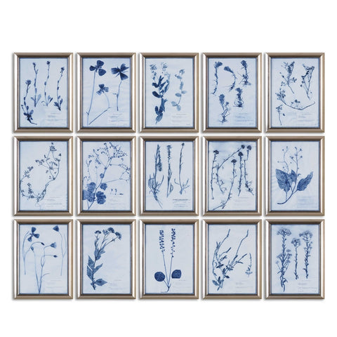 Symphony in Blue, Wall Art, Set of 5