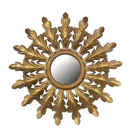Framed Starburst Mirror in Gold Finish