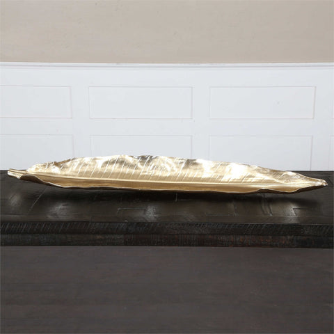 Gold Banana Leaf Tray
