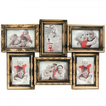Gold Brushed Collage Photo Frame